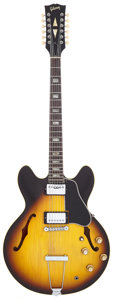 Musical Instruments:Electric Guitars, 1965 Gibson ES-335-12 Sunburst 12 String Semi-Hollow Body ElectricGuitar, Serial # 853680....