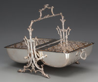 A VICTORIAN SILVER-PLATED BISCUIT WARMER, circa 1870 Marks: E. BRS, EP, STANTFORTH'S PATENT, 8679 9-