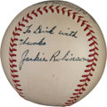 Autographs:Baseballs, 1949-51 Jackie Robinson Single Signed Baseball....