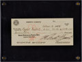 Autographs:Checks, 1968 Roberto Clemente Signed Check....