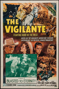 "The Vigilante: Fighting Hero of the West (Columbia, 1947). One Sheet (27"" X 41"") Chapter 8: ""Blasted to E..."