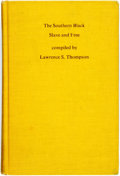 Books:Reference & Bibliography, [Slavery]. [Books about Books]. Lawrence S. Thompson, editor.The Southern Black Slave and Free. A Bibliography ofAnti-...