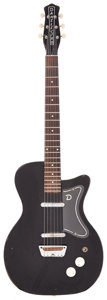 Musical Instruments:Electric Guitars, Late 1950's Danelectro U2 Black Solid Body Electric Guitar....