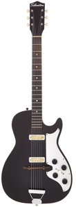 Musical Instruments:Electric Guitars, 1962 Harmony Stratotone Black Solid Body Electric Guitar....