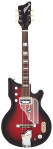 Musical Instruments:Electric Guitars, 1964 National Westwood Cherry Sunburst Solid Body Electric Guitar,Serial # G19773....