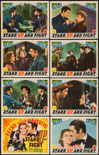 """Stand Up and Fight (MGM, 1939). Lobby Card Set of 8 (11"""" X 14""""). Western. ... (Total: 8 Items)"""