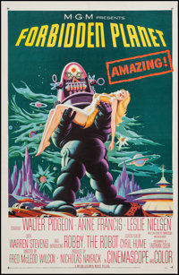 "Forbidden Planet (MGM, 1956). One Sheet (26.75"" X 41""). Science Fiction"