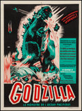 """Movie Posters:Science Fiction, Godzilla (Trans World, 1956). French Affiche (23.5"""" X 31.5"""").Science Fiction.. ..."""