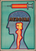 "Movie Posters:Crime, Heroin (CWF, 1969). Polish One Sheet (23"" X 32.5""). Crime.. ..."