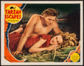 "Movie Posters:Adventure, Tarzan Escapes (MGM, 1936). Trimmed Lobby Card (11"" X 13.75"").Adventure.. ..."