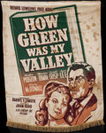 "Movie Posters:Drama, How Green Was My Valley (20th Century Fox, 1941). Silk Banner(38.5"" X 49""). Drama.. ..."