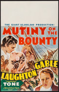 "Movie Posters:Academy Award Winners, Mutiny on the Bounty (MGM, 1935). Window Card (14"" X 22""). AcademyAward Winners.. ..."