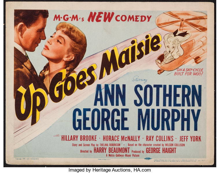 """Up Goes Maisie (MGM, 1946). Title Lobby Card (11"""" X 14""""). Comedy.. 