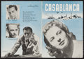 "Movie Posters:Academy Award Winners, Casablanca (Warner Brothers, Late 1940s). Danish Herald (5.5"" X7.75""). Academy Award Winners.. ..."