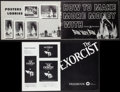 Movie Posters:Horror, The Exorcist & Others Lot (Warner Brothers, 1974). Uncut Pressbooks (13) (Multiple Pages, Various Sizes), Mini Posters (2) (... (Total: 15 Items)