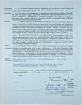 Baseball Collectibles:Others, 1976 Hoyt Wilhelm Signed New York Yankees Minor League InstructorContract. ...