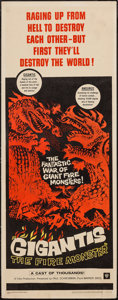 "Movie Posters:Science Fiction, Gigantis the Fire Monster (Warner Brothers, 1959). Insert (14"" X36""). Science Fiction.. ..."