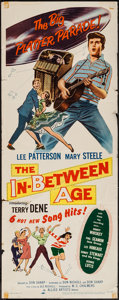 "Movie Posters:Rock and Roll, The In-Between Age (Allied Artists, 1958). Insert (14"" X 36""). Rockand Roll.. ..."