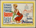"Movie Posters:Comedy, La Parisienne (United Artists, 1958). Half Sheet (22"" X 28"") Style A. Comedy.. ..."