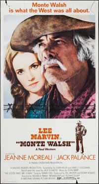 "Monte Walsh & Other Lot (National General, 1970). Three Sheet (41"" X 76"") & One Sheet (27""..."