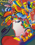 Fine Art - Painting, American:Contemporary   (1950 to present)  , PETER MAX (American, b. 1937). Untitled (Lady in Profile).Acrylic on paper . 27 x 21 inches (68.6 x 53.3 cm). Signed up...