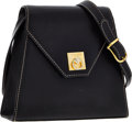 Luxury Accessories:Bags, Celine Black Leather Shoulder Bag with Gold Hardware . ...
