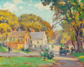 Paintings, MABEL MAY WOODWARD (American, 1877-1945). New England Summer, Late Afternoon. Oil on canvas. 16 x 20 inches (40.6 x 50.8...