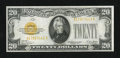 Small Size:Gold Certificates, Fr. 2402 $20 1928 Gold Certificate. About Uncirculated.. ...