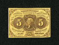 Fractional Currency:First Issue, Fr. 1230 5c First Issue Extremely Fine-About Uncirculated....