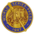 Baseball Collectibles:Others, 1947 World Series Press Pin (Brooklyn Dodgers). Historicallysignificant pin dates to the season which the Brooklyn Dodger'...