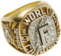 Baseball Collectibles:Others, 1997 Florida Marlins World Championship Ring. History was made twice in October of 1997, when the Marlins became both the y...