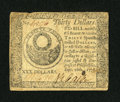 Colonial Notes:Continental Congress Issues, Continental Currency September 26, 1778 $30 Very Fine....