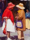 Fine Art - Painting, American:Contemporary   (1950 to present)  , BETTINA STEINKE (American, 1913-1999). Gossip, 1989. Oil oncanvas. 16 x 12-1/4 inches (40.6 x 31.1 cm). Signed and date...