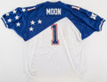 Football Collectibles:Uniforms, Warren Moon Signed Pro Bowl Jersey....