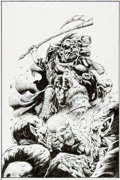 Original Comic Art:Splash Pages, Nat Jones and Richard Bonk Frank Frazetta's Death Dealer #3Pin-Up Original Art (Image, 2007)....