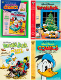 Memorabilia:Disney, Carl Barks Signed Disney Comic Album Group (various publishers, 1970s-90s) Condition: Average VF.... (Total: 4 Items)