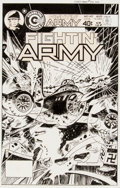 Original Comic Art:Covers, Tom Sutton Fightin' Army #140 Cover Original Art (Charlton, 1979)....