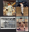 Baseball Collectibles:Photos, New York Yankees Greats Signed Photographs Lot of 4....