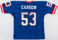 Football Collectibles:Uniforms, Harry Carson Signed New York Giants....