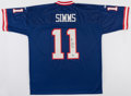 Football Collectibles:Uniforms, Phil Simms Signed New York Giants Jersey....