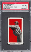 "Baseball Cards:Singles (Pre-1930), 1910 E98 ""Set of 30"" Hal Chase - Red ""Black Swamp Find"" PSA NM-MT8...."