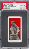 "Baseball Cards:Singles (Pre-1930), 1910 E98 ""Set of 30"" Frank Chance - Red ""Black Swamp Find"" PSANM-MT 8. ..."