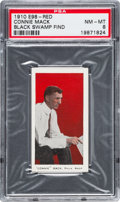"""Baseball Cards:Singles (Pre-1930), 1910 E98 """"Set of 30"""" Connie Mack - Red """"Black Swamp Find"""" PSA NM-MT 8 - Highest Grade Still Available. ..."""