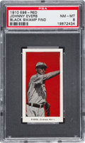 "Baseball Cards:Singles (Pre-1930), 1910 E98 ""Set of 30"" Johnny Evers - Red ""Black Swamp Find"" PSANM-MT 8...."