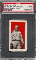"""Baseball Cards:Singles (Pre-1930), 1910 E98 """"Set of 30"""" Cy Young - Red """"Black Swamp Find"""" PSA NM 7...."""