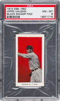 "Baseball Cards:Singles (Pre-1930), 1910 E98 ""Set of 30"" Hippo Vaughn - Red (Black Swamp Find) PSA NM-MT 8. ..."
