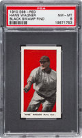 "Baseball Cards:Singles (Pre-1930), 1910 E98 ""Set of 30"" Hans Wagner - Red ""Black Swamp Find"" NM-MT 8 - Highest Grade Still Available...."