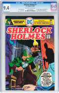 Bronze Age (1970-1979):Miscellaneous, Sherlock Holmes #1 (DC, 1975) CGC NM 9.4 Off-white to whitepages....