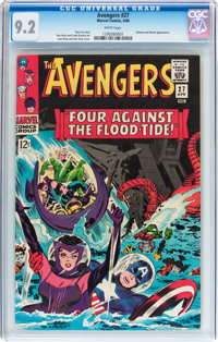 The Avengers #27 (Marvel, 1966) CGC NM- 9.2 White pages