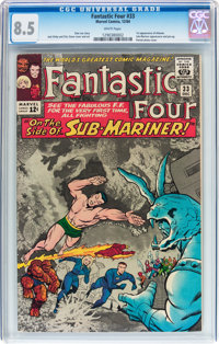Fantastic Four #33 (Marvel, 1964) CGC VF+ 8.5 White pages